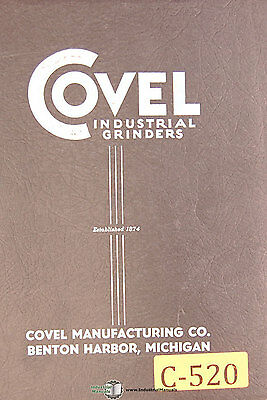 Covel No. 15 6 X 18 Surface Grinder Operations And Parts Manual 1951