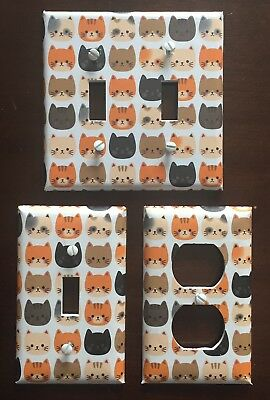 Light Switch Cover Plates Cats Kitten Meow Crazy Cat Lady Kitty Cat Lover Decor Decorative Switch Cover Plates