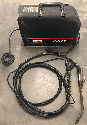 Lincoln Ln-25 Wire Feeder Welder Gas Portable Mig Flux Arc Welding Solid Cored