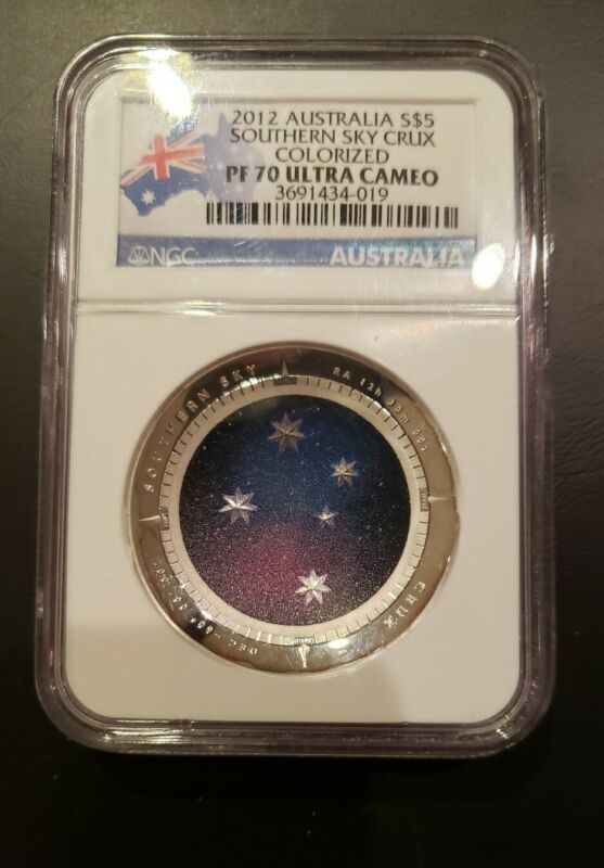 2012 Australia Crux Southern Sky S$5 Silver Proof NGC PF 70 Ultra Cameo