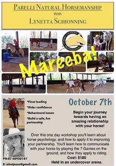 Beginner Parelli Natural Horsemanship workshop