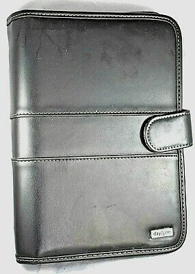 Day One By Franklin Cover Plannerorganizer Black Faux Leather 10x 7x 1.75