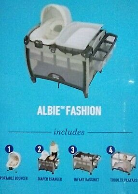 Graco Pack 'n Play Quick Connect Playard with Portable Bouncer, Albie NEW