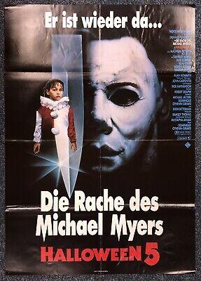 Halloween 5 - Die Rache des Michael Myers - Horror A1 Film Poster Plakat M-8079+ ()
