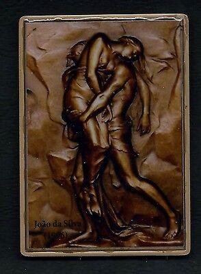 ART Painter / Joao Da Silva / Reproduction / BRONZE ENAMEL MEDAL. M A 2 - $51.00