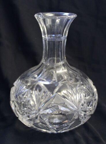 "H.P. Sinclaire Cut Glass Carafe Decanter 7 1/2"""