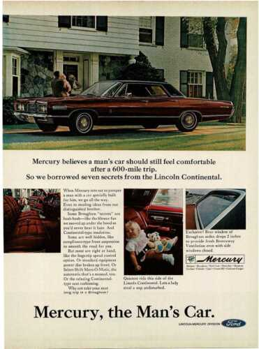 1967 MERCURY Park Lane Brougham burgundy 4-door hardtop Vintage Print Ad