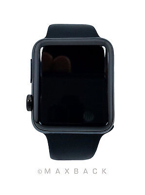 Apple Watch Sport  A1758  42Mm Series 2 Black Stainless Steel Case W  Black Band