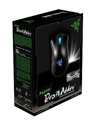 Razer DeathAdder 3500DPI Gaming Mouse Blue Right Hand Free Shipping