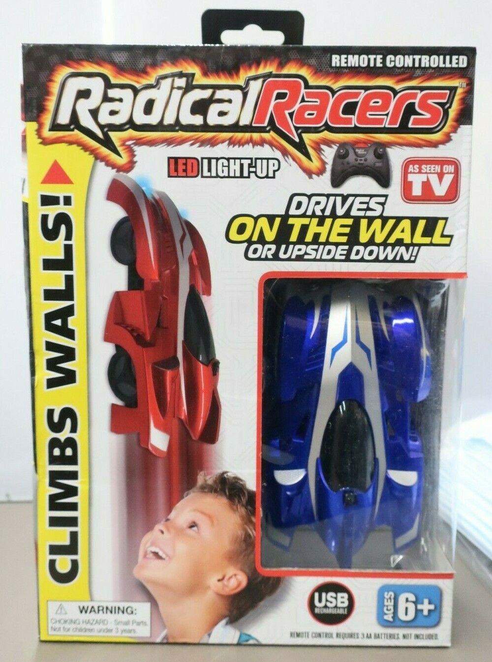 Radical Racers Wall Climbing Car Remote Control RC Car -Blue