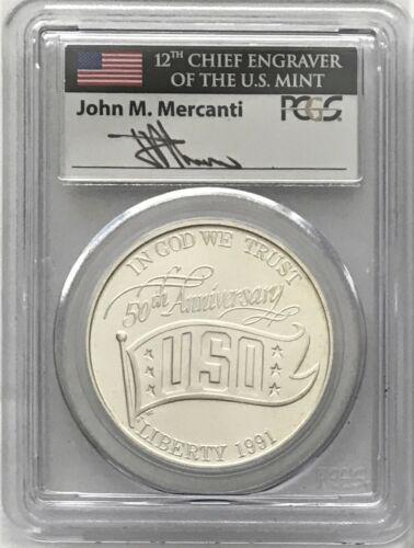 2002 W West Point Bicentennial Silver Dollar PCGS MS70 John Mercanti Signed