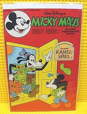 Walt Disney® Micky Maus Nr 31 von 1981 mit Schnipp und Beilage