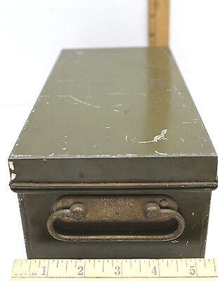 Vintage Samson Bank Lock Box Metalhandle Model K Office Cash Security Safe