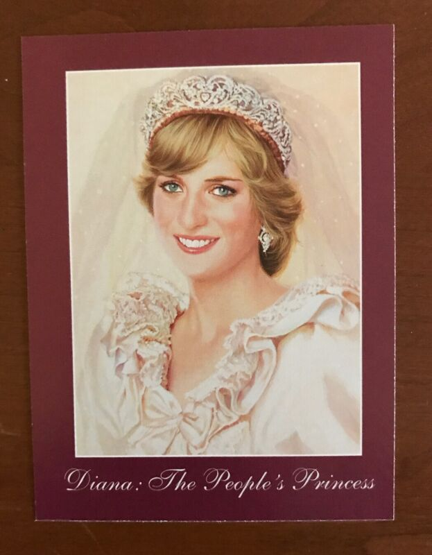 Princess Diana The Peoples Princess Queen Of Our Hearts Bradford Exchange Card