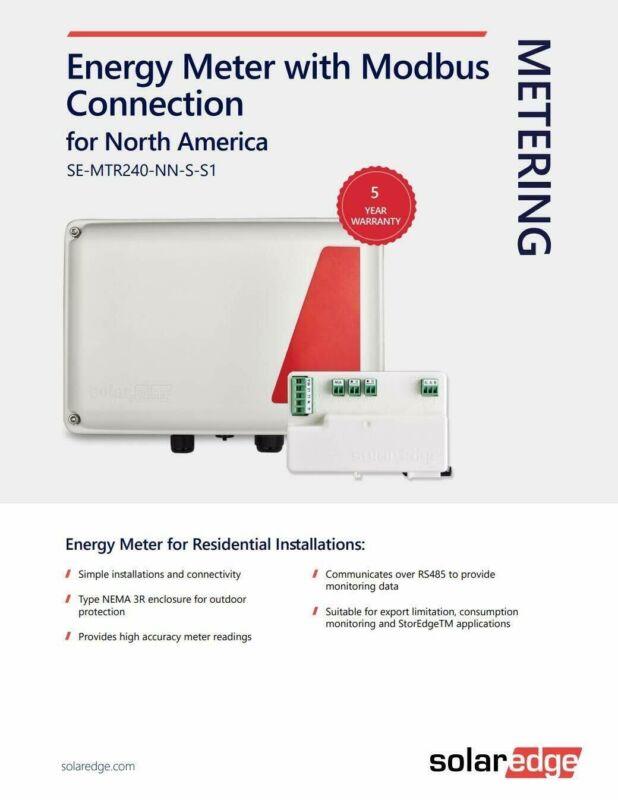 Solaredge, Electricity Meter, NEW UNOPENED BOX w WARRANTYSE-MTR240-2-200-s1