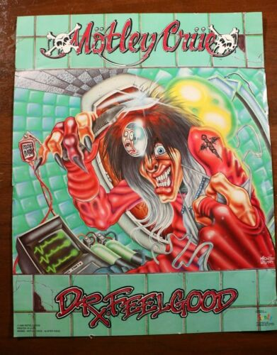 Motley Crue Dr. Feelgood Album Poster 16x20 Funky Enterprises 1990 Vintage