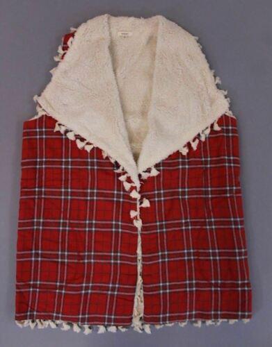 women s sleeveless sherpa lined plaid vest