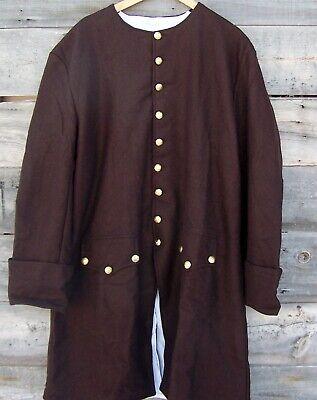 Revolutionary War Civilian Militia Wool Frock Coat Pleated 48