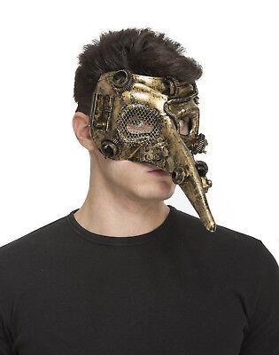 Halloween Steampunk Kostüm Venezianische Maskerade Zanni Lange Nase Maske Herren ()