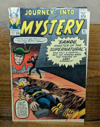 Journey Into Mystery 91 (Marvel, April 1963) Lee Sinnott Ditko Thor Loki Sandu