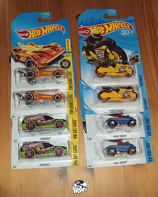 Hot Wheels LOT of 8 TREASURE HUNTS, Four Pairs Mattel 2018, 2017