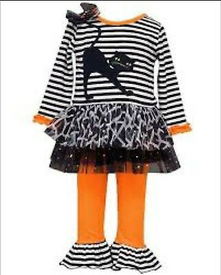 Bonnie Jean Baby Girls' Halloween Cat Tutu Set Scary Play Costume New 6-9 - Scary Baby Girl Halloween Costumes