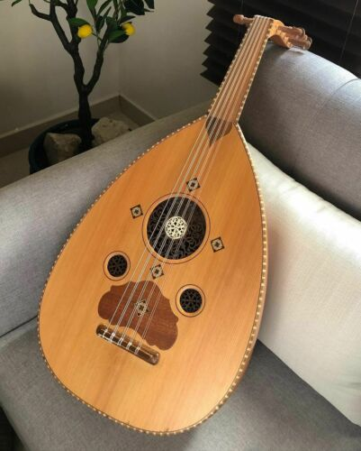 Arabic Syrian Handmade Oud Walnut And Zan Wood Model Shemi 1 Made by Zeryab