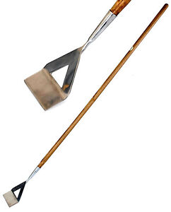 Stainless Steel Dutch Hoe with Ash Wood Handle Garden