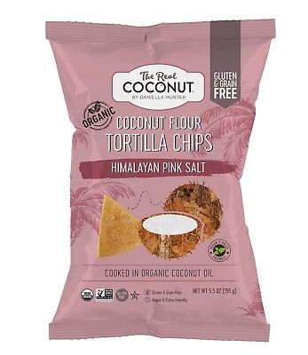Vegan friendly snacks: The real Coconut Co Coconut Flour Tortilla Chips 4 pack ()