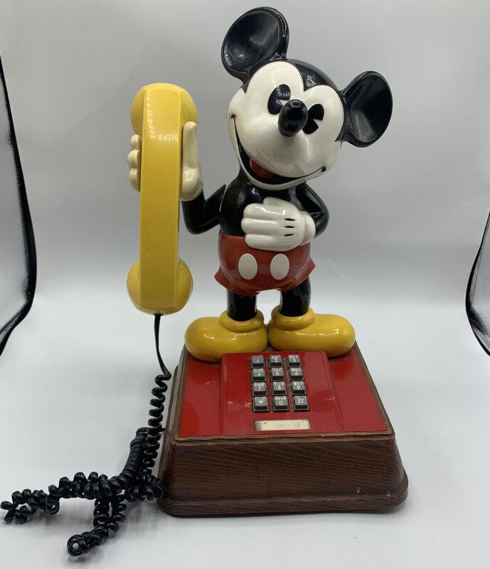 Vintage The Mickey Mouse Phone Landline Push Button Telephone 1976 Disney Rare