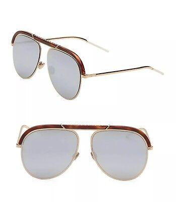 Christian Dior DESERTIC Havana Gold Silver Mirrored 2IK 0T Women Men (Christian Dior Sunglasses For Men)