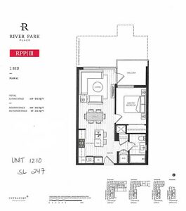 【Assignment 楼花转让】Cheapest! River Park Place III 1-Br for $509k