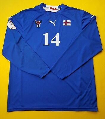 ce2a159906f 4.4 5 Faroe Islands match worn jersey 2008 Euro UEFA shirt Puma soccer ig93