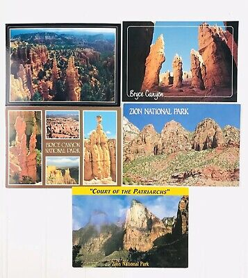 Zion National Park Utah Postcard Vintage Unused Lot Best Of The West