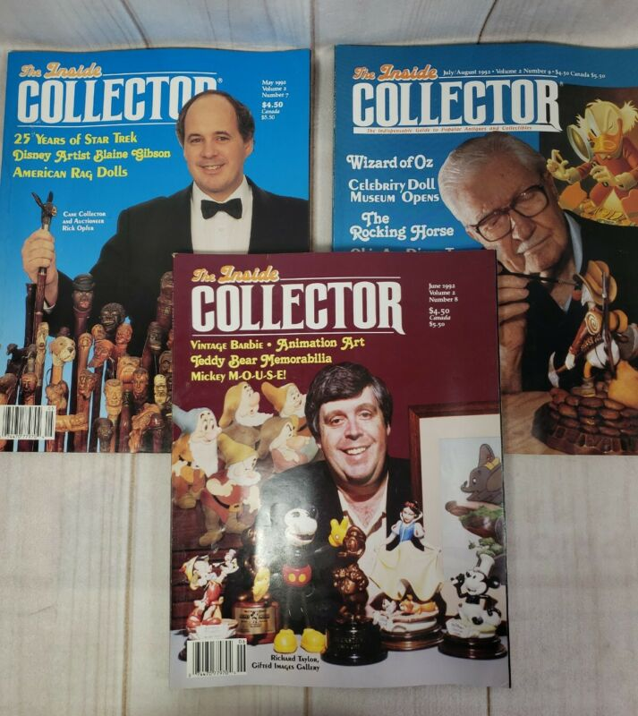 Vintage Inside Collector Canes Dolls Toys Lot 3 Issues 1992 Decoupage
