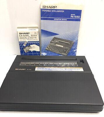Vtg Sharp Pa-1050 Portable Intelliwriter Electronic Typewriter