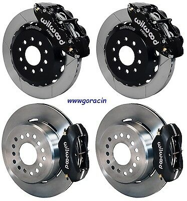 "Wilwood Disc Brake Kit ,2005-2014 Ford Mustang,13""/12"" ROTORS,Black Calipers"