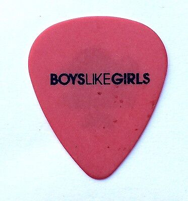 Boys Like Girls Guitar Pick. 2012 Tour Red Pick.