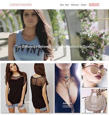 Ladies Fashion Website Business - Earn 229 A Sale. Domainhostingtraffic