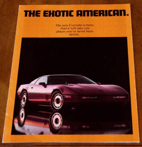 Chevrolet Corvette brochure Prospekt, 1984