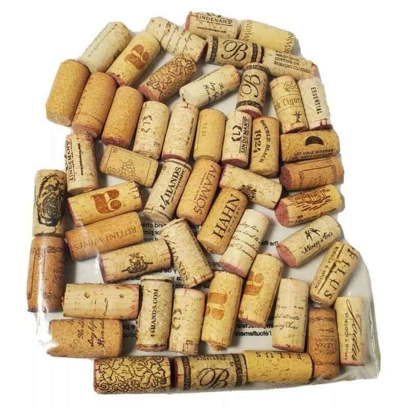 Natural Cork Used Wine Bottle Corks Bag Of 50 Corks with No Synthetic ones