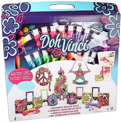 Play Doh Vinci 60 Piece Ultimate Design Suite stylers flower tower peace project