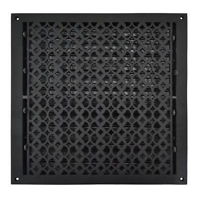 """Powder Coated Cast Aluminum Floor Register 18"""" X 18""""- Air Vent Cover, Matte Flat - Flat Floor Vent"""