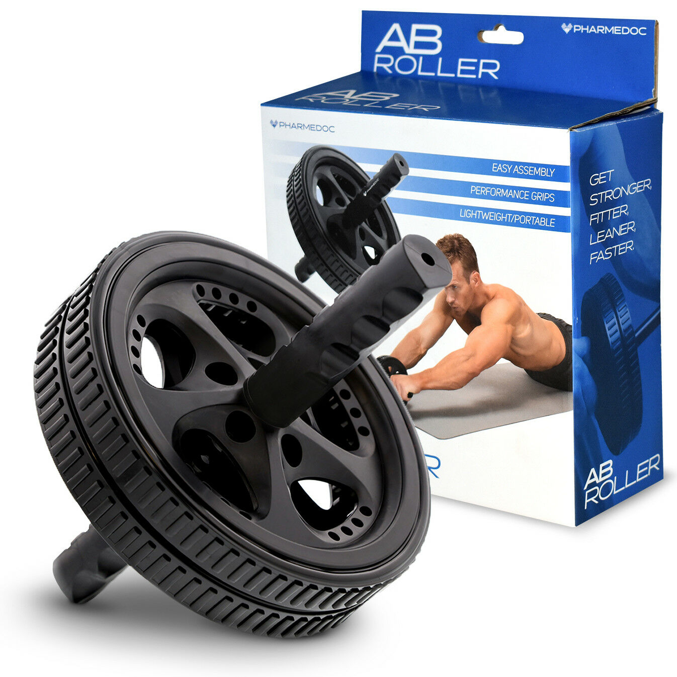 PharMeDoc Ab Roller Wheel - Abdominal Workout Equipment for