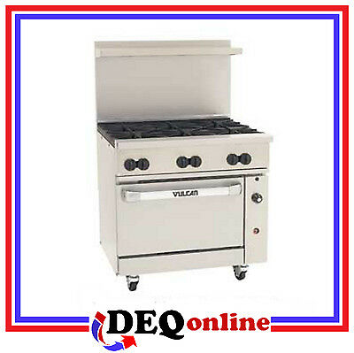 Vulcan 36s-6b Endurance 36 Gas Restaurant Range 6 Burners Ng Or Lp