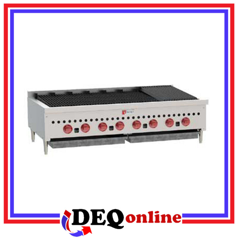 "Wolf Scb47 Counter Model Gas Charbroiler 46 3/4"" Wide Stainless Steel Ng Or Lp"
