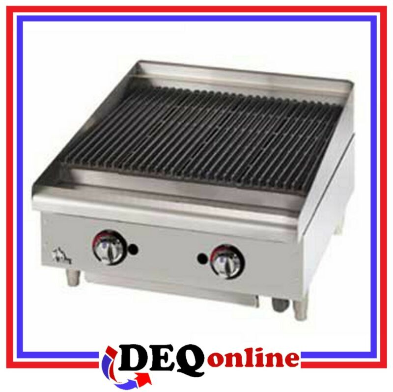 "Star 6024cbf Star-max 24"" Heavy Duty Lava Rock Gas Char-broiler"