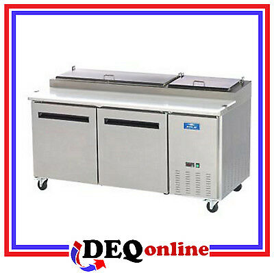 Arctic Air App71r Two Door Refrigerated Pizza Prep Table Holds 9 Pans