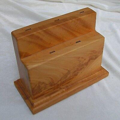 Letter Opener Display Holds 5 Fused Glass Crafts Prima Vera Wood Handmade