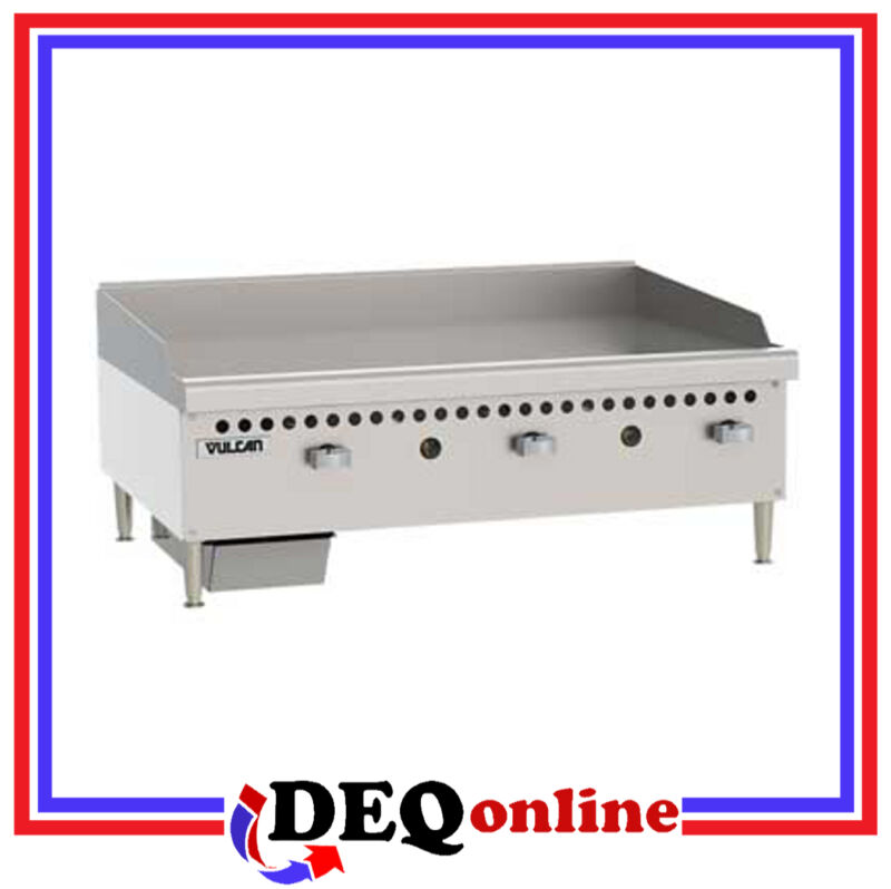 "Vulcan Vcrg36-m Restaurant Series Gas Griddle 36"" W X 20 1/2 D Griddle Plate"